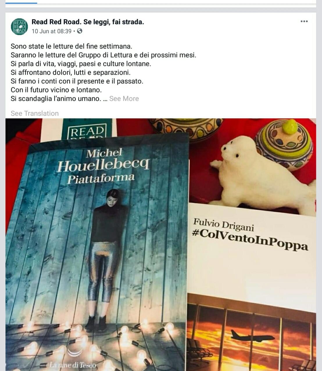 Il mio libro scelto per il gruppo di lettura della libreria Read Red Road di Roma